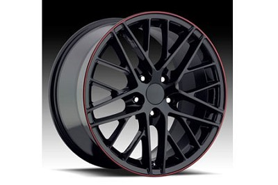 "88-04 ""09 ZR1"" Black Wheel Set w/Stripe (17x8.5""/18x9.5"")"